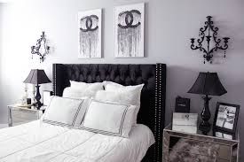 Black And White Bed Black U0026 White Bedroom Decor Chic Glam Bedroom Decor Blondie