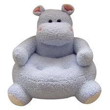 Hippo Ottoman 23 Blue Hippo Plush Animal Chair Sam S Club