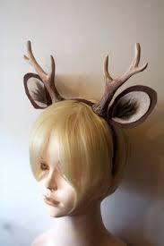 deer headband deer antler headband rustic woodlands christmas