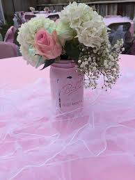 Shabby Chic Flower Arrangement by Shabby Chic Baby Shower Party Ideas Floral Arrangements Jars