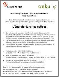 bureau d ude environnement suisse œco eglise et environnement archive des nouvelles
