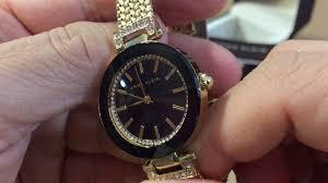 anne klein bracelet gold images Anne klein women 39 s ak 1906bkgb swarovski crystal accented watch jpg