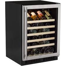 steel frame glass doors marvel 5 bottle wine cellar black cabinet and stainless steel