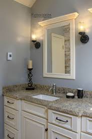 oil rubbed bronze light fixtures with brushed nickel faucets