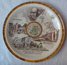 celebration plate vernon kilns hidalgo county centennial celebration plate