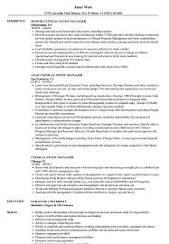 clinical manager resume clinical study manager resume sles velvet