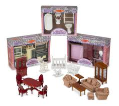 melissa u0026 doug classic victorian wooden and upholstered dollhouse