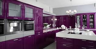 design interieur cuisine violette design classique ilot moderne