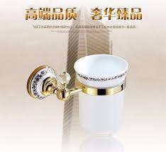 mounted bathroom accessories brass u0026 crystal toilet brush holder