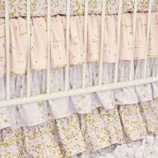 lilac and gold sparkle baby bedding caden lane