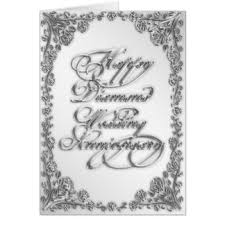 60th wedding anniversary wishes 60th wedding anniversary greeting cards zazzle co uk