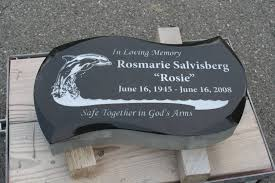 headstone markers absolute black flat grave marker with a custom shape and bevel edges