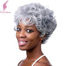 gray hair pieces for american african american grey hair wigs for older women hair and wigs
