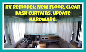 rv remodel new flooring clean curtains cabinet hardware youtube