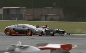bugatti crash for sale f1 car vs bugatti veyron laferrari p1 and more top gear track
