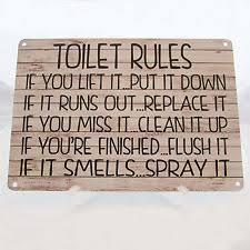 vintage retro toilet decorative plaques u0026 signs ebay