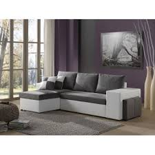 canapé d angle blanc et gris 250 sur toledo canapé d angle réversible convertible avec coffre