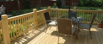 Backyard Wood Deck St Louis Fence Contractor Fencing Gates Easter Fence