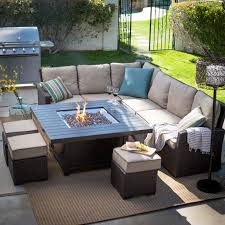 Patio Table With Built In Fire Pit - coral coast south isle sectional set with driftwood fire pit table