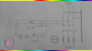 reverse forward starter jogging control circuit diagram youtube