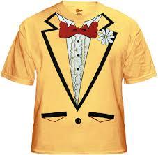 tuxedo shirt s yellow tuxedo t shirt with ruffles