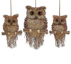 twig pine cone sisal owl ornament wall by irishgirlswreaths