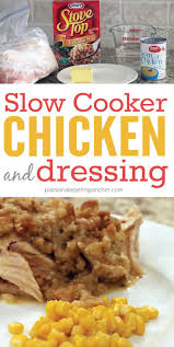 best 25 crockpot chicken and dressing ideas on