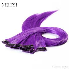 purple hair extensions neitsi 18 10pcs lot 80g purple synthetic clip in hair