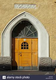 art nouveau jugendstil house door entrance in the street
