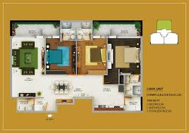 3bhk Home Design by Ordinary Elite House Plans 2 3bhk 20layout 20plan 20 201885