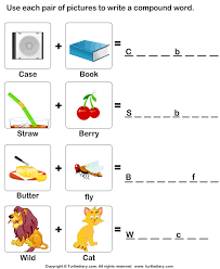 use pictures to make compound words worksheet turtle diary