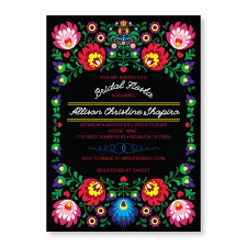 bridal shower invitation black