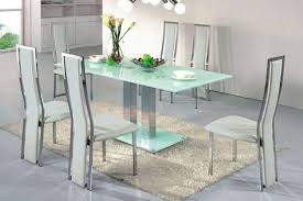 glass dining room sets stunning glass dining table set with white cabinet top room