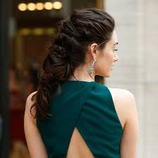 emmy rossum wears a fierce braided hairstyle to a ballet spring