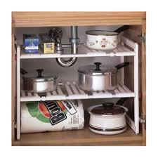 Under Kitchen Sink Organizer by Bolster Store Multipurpose Kitchen Under Sink Storage Extendable