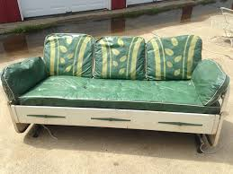 1940 u0027s vintage metal patio glider day bed with original cushions