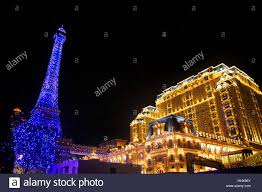 eiffel tower christmas lights december 20 2016 macao china a replica of the eiffel tower lit