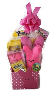 peeps basket peeps bunny marshmallow themed easter candy basket with