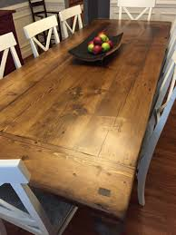 kitchen table solid wood dining table industrial metal table