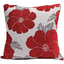 Red Floral Sofa by Chenille Poppy Cushions Large U0026 Small Floral Sofa Bed Scatter