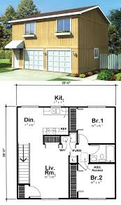 Home Building Plans And Costs Garage Apartment Plan 6015 Has 728 Square Feet Of Living Space 2