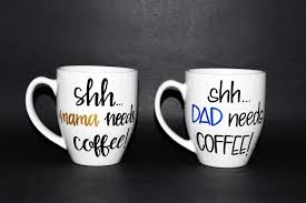 mom and dad mugs new parents coffee mugs baby shower