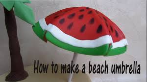 Big W Beach Umbrella How To Make A Beach Umbrella Cake Topper Out Of Fondant Come