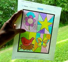 make it easy crafts kid u0027s craft stained glass free printable