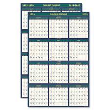 Wall Calendar Organizer House Of Doolittle 391 Eco Friendly 18 Month Lam Wall Calendar