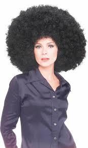 mens halloween wigs huge big afro black wig 60s 70s fancy dress costume mens