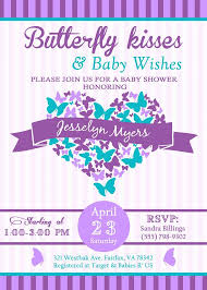 butterfly baby shower invitations butterfly kisses and baby