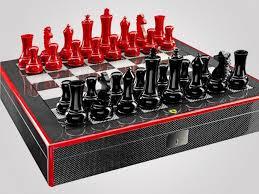 luxury chess set checkmate ferrari carbon fiber chess set luxury insider