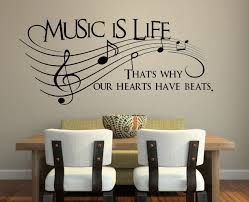 Wall Decals Amazon by Amazon Com Music Is Life That U0027s Why Our Hearts Have Beats
