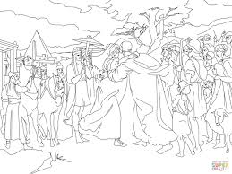 joseph meet jacob coloring page free printable coloring pages
